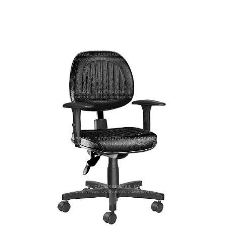Cadeira Ergonômica Executiva Giratória com Braços Reguláveis e Base Aço Capa Milão CB 304