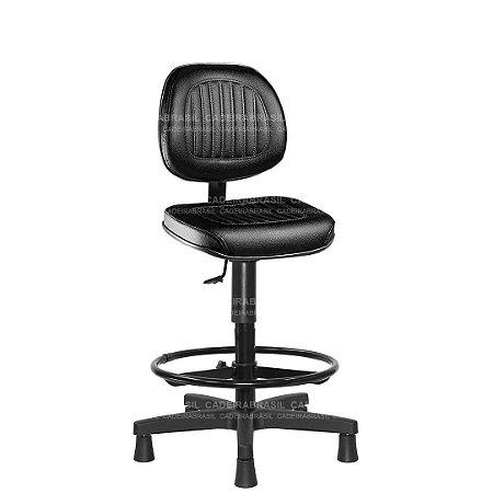 Cadeira Caixa Executiva Giratória com Base Aço Capa e Apoio de Pés Milão CB 306