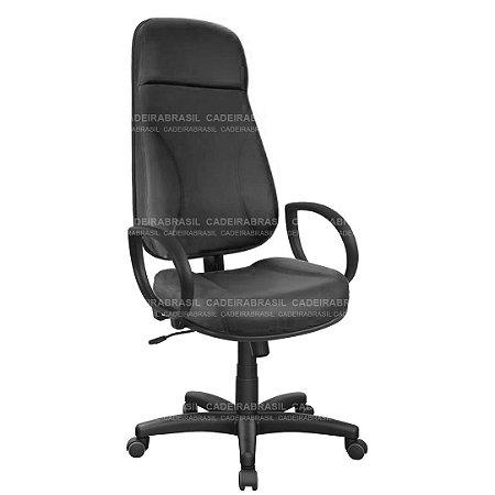 Cadeira Escritório Presidente Extra Gomada com Braços e Base Aço Capa Concert CB 600