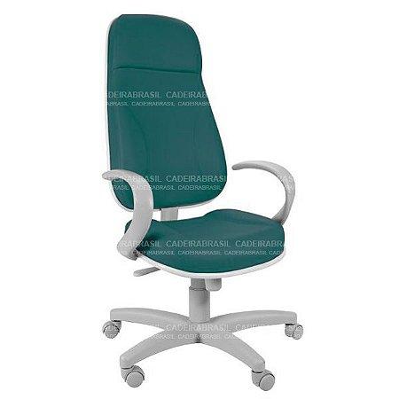 Cadeira Escritório Presidente Extra Gomada com Braços e Base Aço Capa Concert Plus CB 650