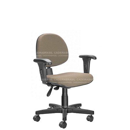 Cadeira Ergonômica Executiva Giratória com Braços Reguláveis e Base Aço Capa Ravan CB 204