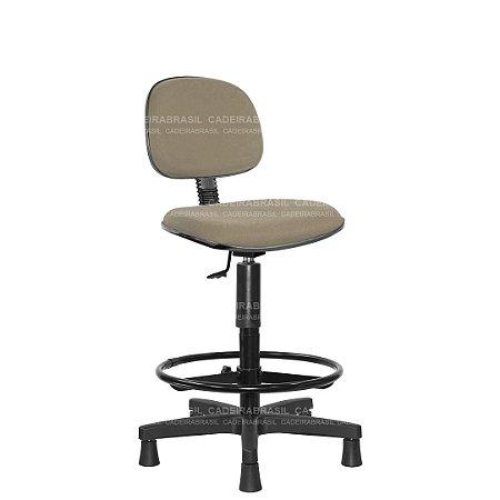 Cadeira Caixa Secretária Giratória com Base Aço Capa e Apoio de Pés Ravan CB 220