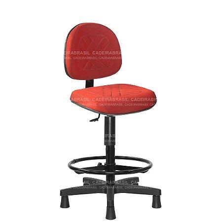 Cadeira Caixa Executiva Giratória com Base Aço Capa e Apoio de Pés Senna CB 406