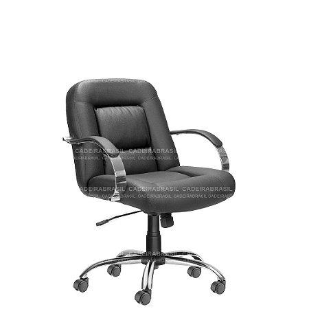 Cadeira Escritório Diretor Giratória Cromada Siena Plus CB 1402