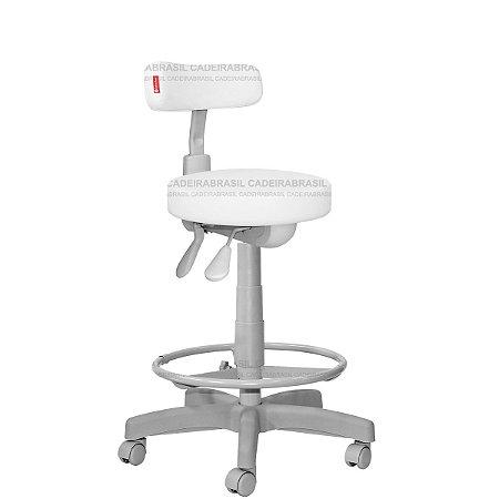 Cadeira Mocho Alto Ergonômico Estética, Fisioterapia, Odontologia Slim Premium Cadeira Brasil CB 1543