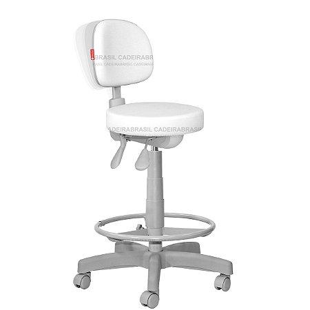 Cadeira Mocho Alto Ergonômico Estética, Fisioterapia, Odontologia Secretária Premium Cadeira Brasil CB 1557