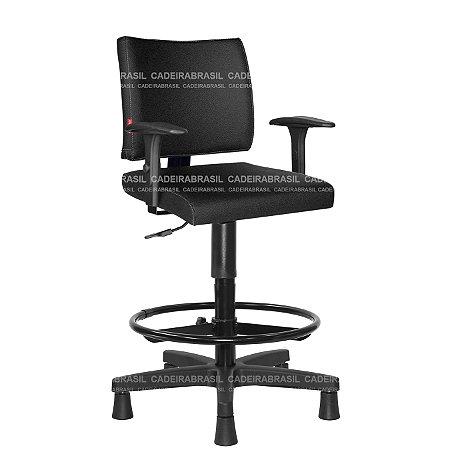 Cadeira Caixa Alta Executiva com Braços Base Aço Capa Ideale CB 3035