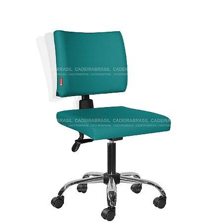 Cadeira Escritório Ergonômica Executiva com Braços Base Cromada Ideale Plus CB 3019