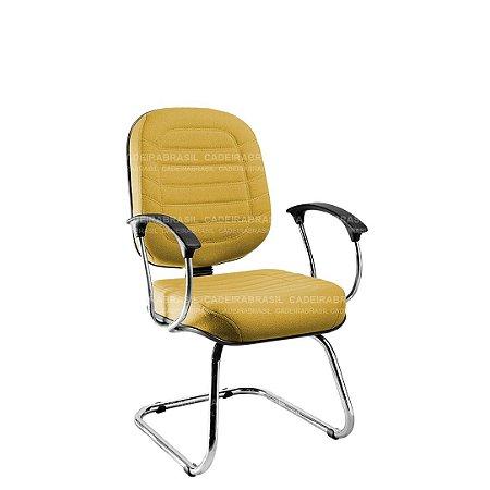 Cadeira Fixa Diretor com Braços e Base Cromada Lacerta CB 711
