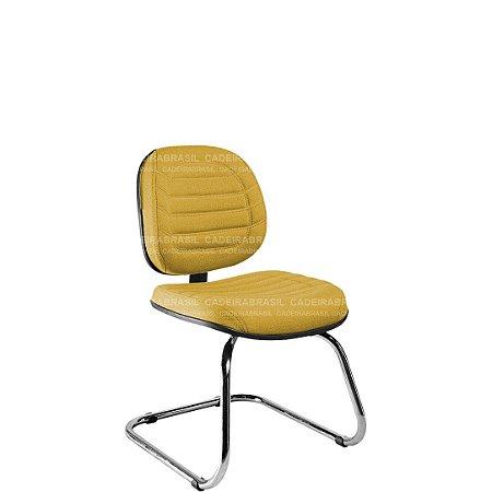Cadeira Fixa Executiva com Base Cromada Lacerta CB 719