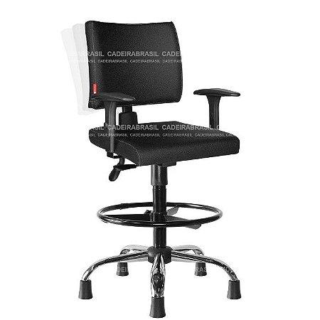 Cadeira Caixa Ergonômica Ideale CB 3023 Plus Braços Reguláveis Cadeira Brasil