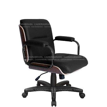 Cadeira Diretor Giratória Wooden CB 4008 Cadeira Brasil