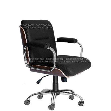 Cadeira Diretor Giratória Wooden CB 4007 Cadeira Brasil