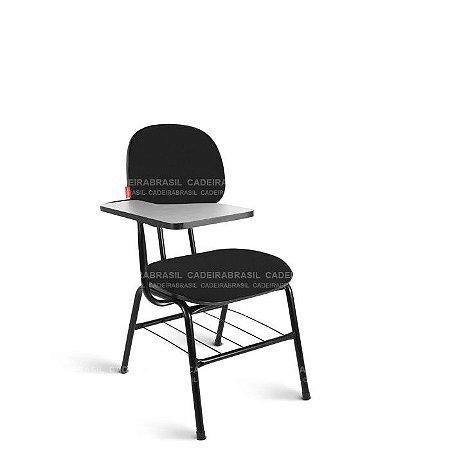 Cadeira Universitária Secretária Ravan CB 214 Prancheta Fixa Cadeira Brasil