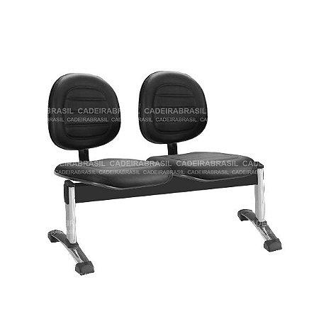 Longarina 2 Lugares Executiva Ravan Plus CB 260 Cromada Cadeira Brasil