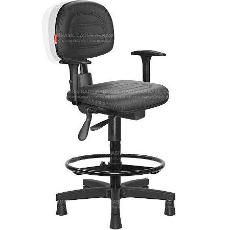 Cadeira Caixa Ergonômica Secretária Ravan Plus CB 130F Cadeira Brasil