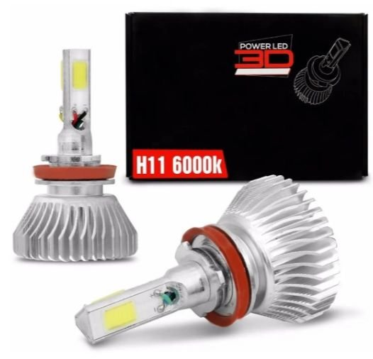 KIT POWERLED 3D H11 H8 6K SHOCKLIGHT