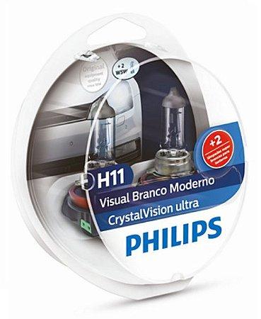 PAR LAMPADA H11 CRYSTAL VISION ULTRA - PHILIPS