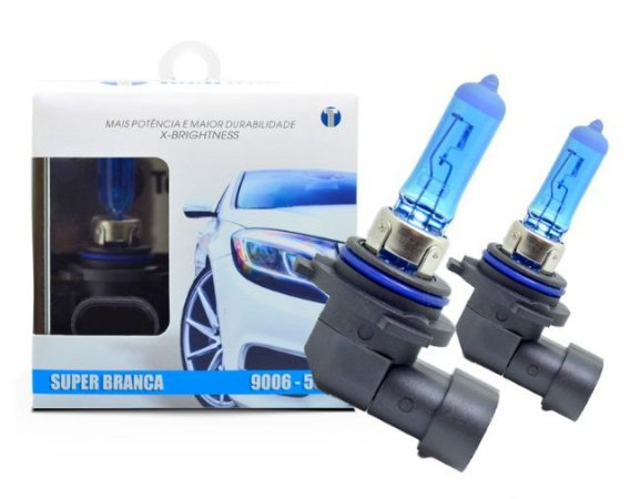 PAR LAMPADAS SUPER BRANCA HB4 8500K 55W 12V TECH ONE