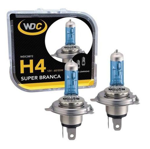 PAR LAMPADAS SUPER BRANCA H4 5000K 60/55W 12V WDC