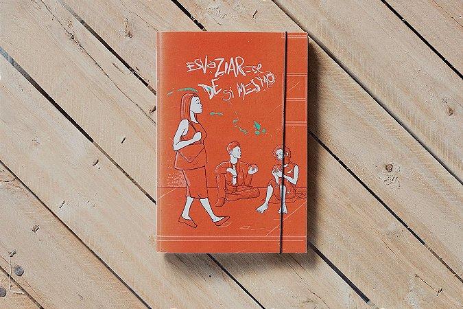 Caderno artesanal Esvaziar-se de si formato A5 Bodoque por: Beto Martins