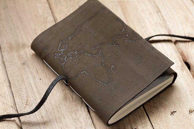 Dark diário de viagem mapa-mundi formato A6 Bodoque