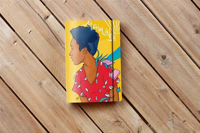 Caderno artesanal de bolso Bodoque ilustrada - Africanidades 3 - Beto Martins