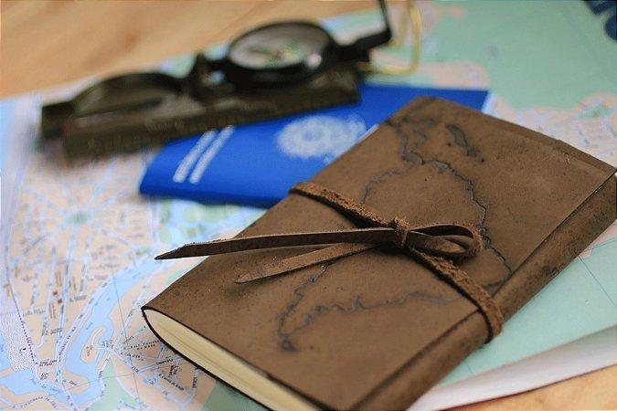 Dark diário de viagem América Latina formato A6 Bodoque