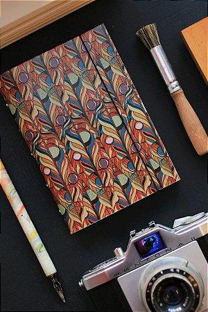 Caderno artesanal a6 perolado - Lucaz Mathias - Cão