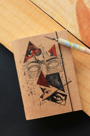 Caderno artesanal a6 - Bianca Lana