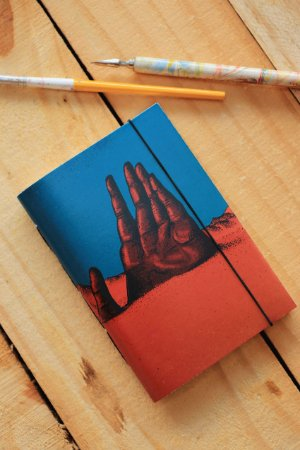 Caderno artesanal a6 perolado - Lucas Borges