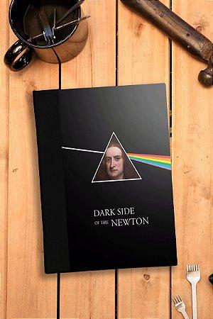 Caderno artesanal Dark side of the Newton capa dura Bodoque Artes e ofícios
