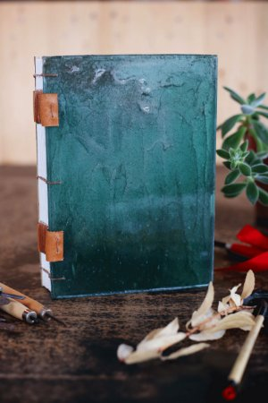 Oceânico - Caderno artesanal formato A5 - miolo em pólen bold