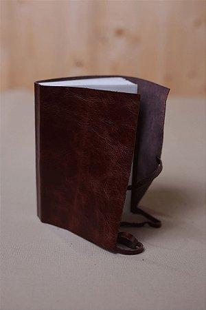 Caderno de Estudos café - Caderno artesanal formato A6 - miolo em pólen bold