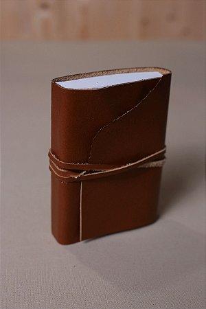 Caderno de Estudos caramelo - Caderno artesanal formato A6 - miolo em pólen bold