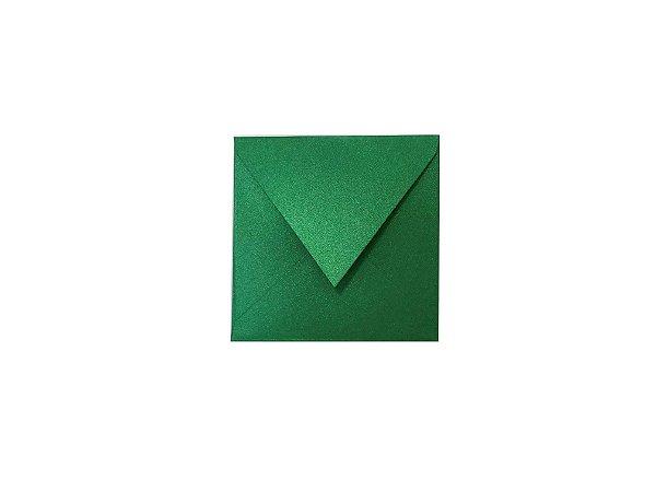 Envelope (REF 12 - 11,0 x 11,0 cm) Verde Metálico