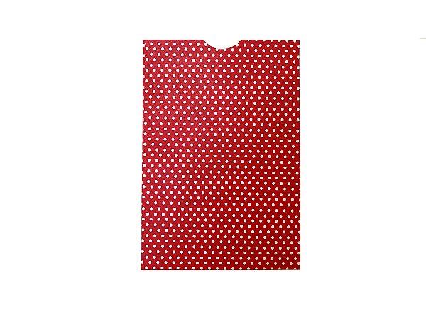 Envelope (REF 24 - 15,0 x 10,3 cm) Vermelho Metal Poá Branco