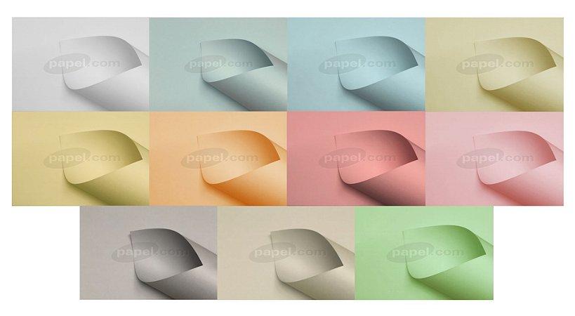 Papel Color Plus 180g/m² (11 cores pastéis | 5 folhas A4 de cada)