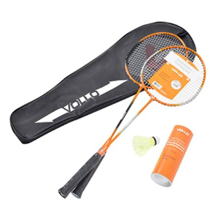 Kit Badminton 2 Raquetes + 3 Petecas  Vollo