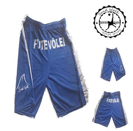 Shorts Futevôlei Sand Walk Azul/Branco