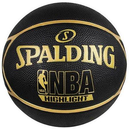 Bola Basquete Spalding NBA Highlight Outdoor Gold