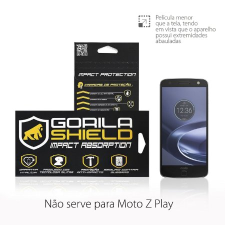 PELICULA DE VIDRO FRONTAL PARA MOTOROLA MOTO Z - GORILA SHIELD