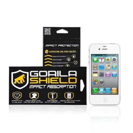Película de vidro Frontal e Traseira para Apple iPhone 4 e 4s - Gorila Shield
