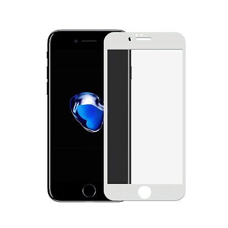 Película de Vidro Coverage Color para iPhone 7 - Branca - Gorila Shield (Cobre toda tela) - não compatível com a CAPA ULTRA SLIM AIR