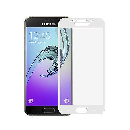 Película de Vidro Coverage Color para Samsung Galaxy A7 2016 - Branca - Gorila Shield (Cobre toda tela)