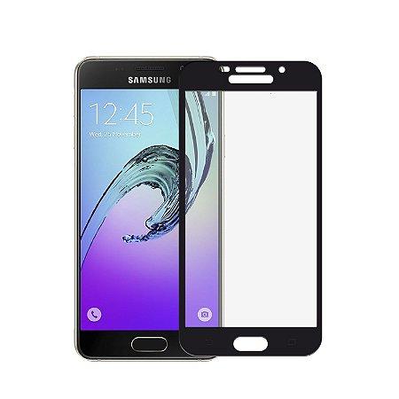 Película de Vidro Coverage Color para Samsung Galaxy A7 2016 - Preta - Gorila Shield (Cobre toda tela)