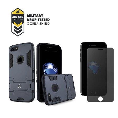 Kit Capa Armor e Película Privacidade para iPhone 7 - Gorila Shield