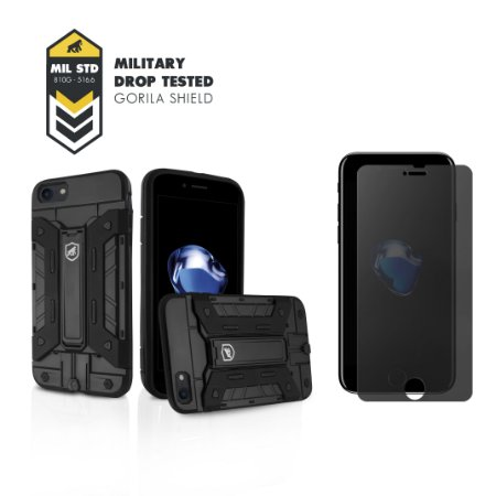 Kit Capa Guardian e Película Privacidade para Apple iPhone 7 - Gorila Shield