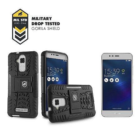 Kit Capa D-Shield e Película de Vidro para Asus Zenfone 3 Max - 5.2 Polegadas - ZC520TL - Double Protection - Gorila Shield