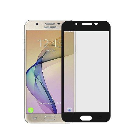 Película de Vidro Coverage Color para Samsung Galaxy J7 Prime - Preta - Gorila Shield (Cobre toda tela)